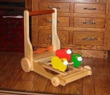 木のおもちゃ カタカタの押し車